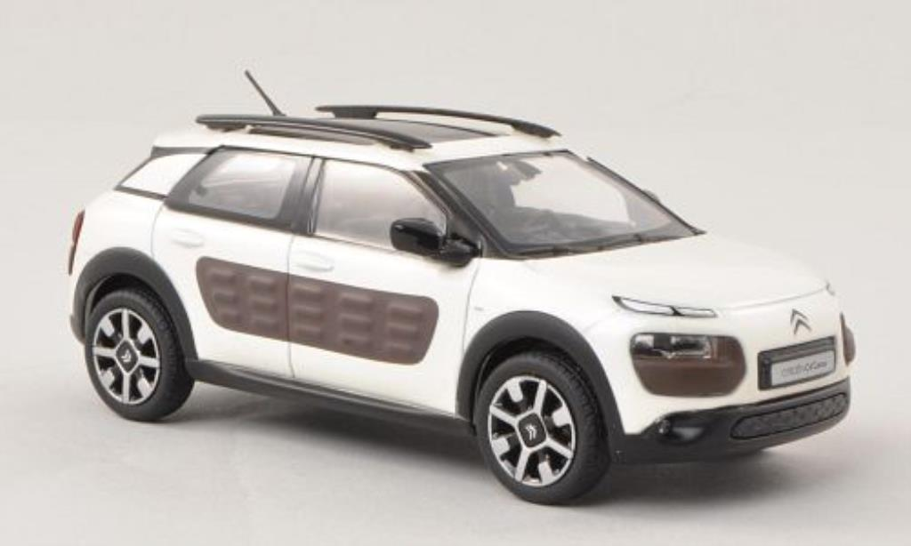 citroen c4 miniature cactus blanche matt braun 2014 norev 1 43 voiture. Black Bedroom Furniture Sets. Home Design Ideas