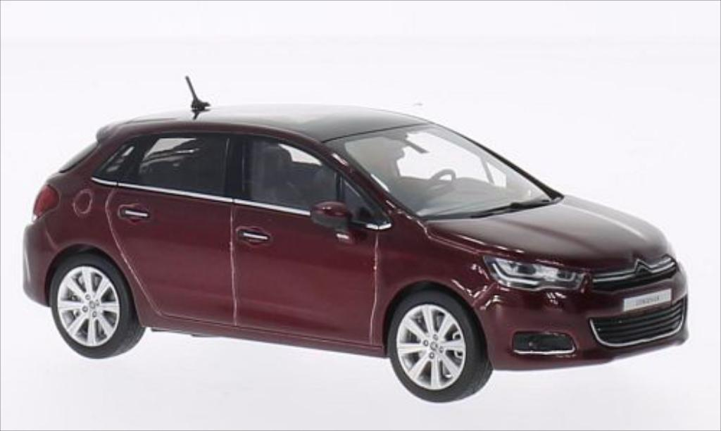 Citroen C4 1/43 Norev metallic-rouge 2015 miniature