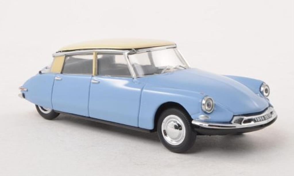 citroen ds 19 miniature bleu beige 1956 vitesse 1 43. Black Bedroom Furniture Sets. Home Design Ideas