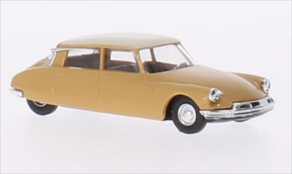 Citroen DS 19 1/87 Busch marron/beige miniature