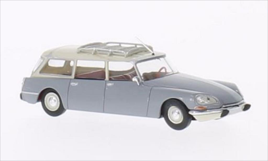 Citroen DS 1/87 Brekina Break grise/beige miniature