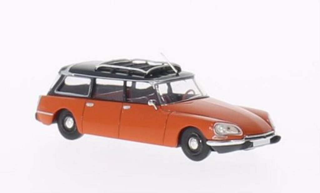 Citroen DS 1/87 Brekina Break orange/noire miniature