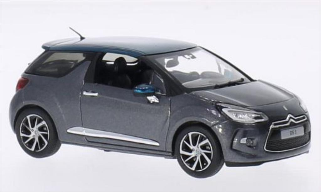 Miniature Citroen DS3 metallic-dunkelgrise/metallic-verte 2015 Norev. Citroen DS3 metallic-dunkelgrise/metallic-verte 2015 miniature 1/43