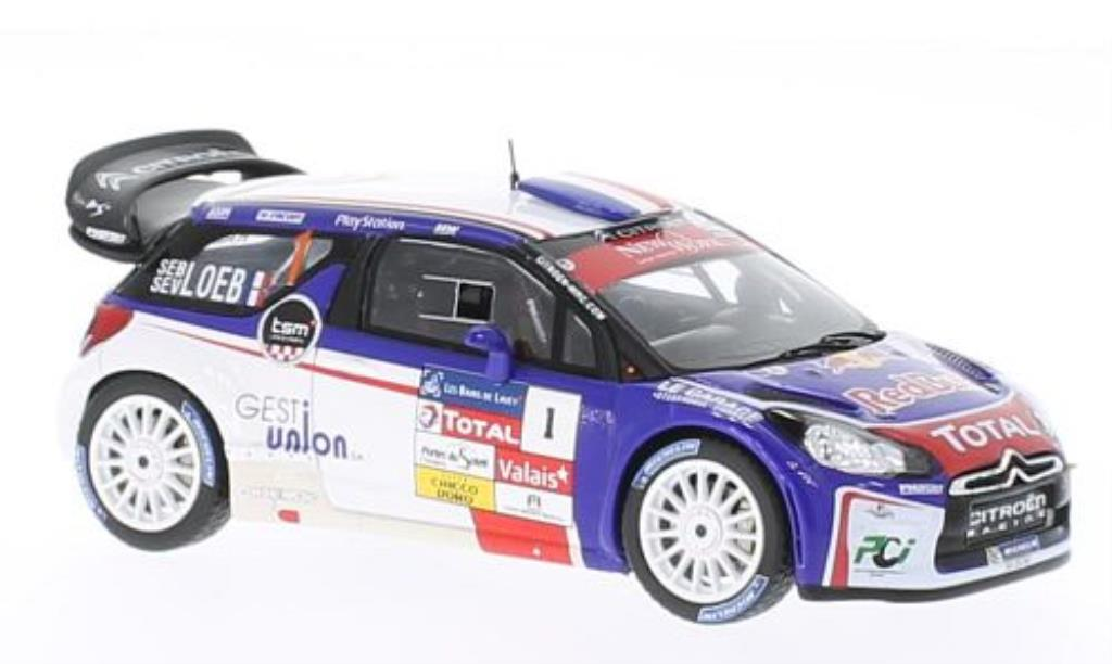 DS Automobiles DS3 1/43 Spark WRC No.1 Red Bull Rally du Chablais 2013 miniature