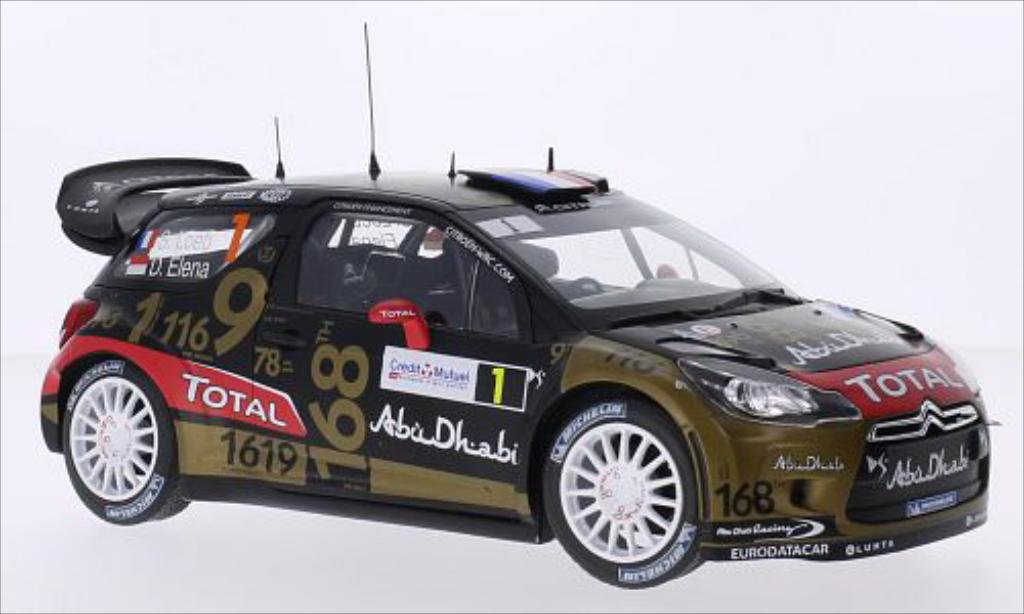 citroen ds3 miniature wrc no 1 total wrc rallye de france 2013 d elena norev 1 18 voiture. Black Bedroom Furniture Sets. Home Design Ideas