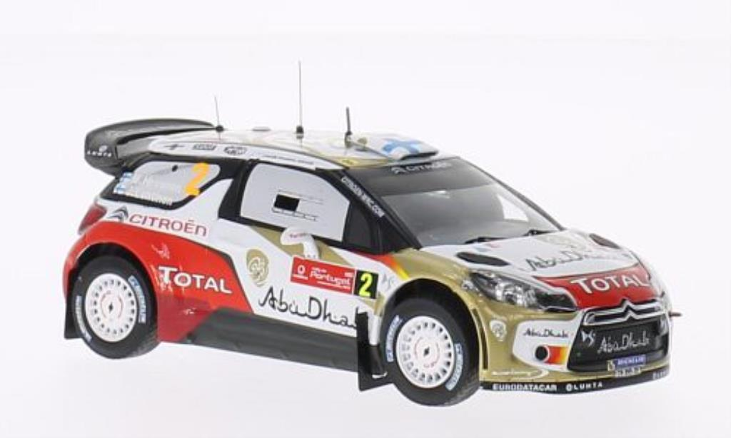 DS Automobiles DS3 1/43 IXO WRC No.2 Abu Dhabi Rally Portugal 2013 /J.Lehtinen miniature