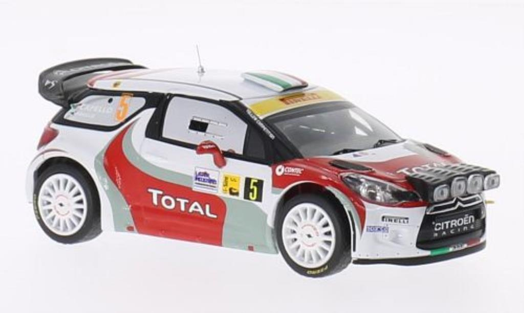 DS Automobiles DS3 1/43 IXO WRC No.5 Total Monza Rally 2011 /L.Pirollo miniature