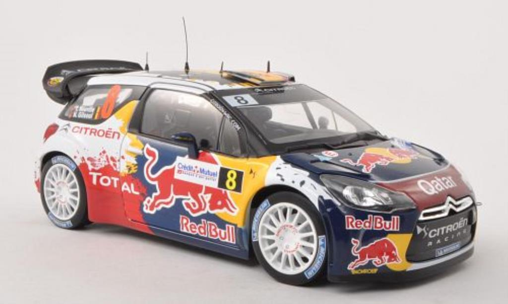 DS Automobiles DS3 1/18 Norev WRC No.8 Red Bull Rally Frankreich 2012 /N.Gilsoul miniature