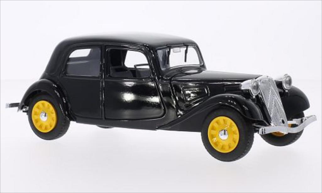 citroen traction 11 miniature bl noire eligor 1 20 voiture. Black Bedroom Furniture Sets. Home Design Ideas