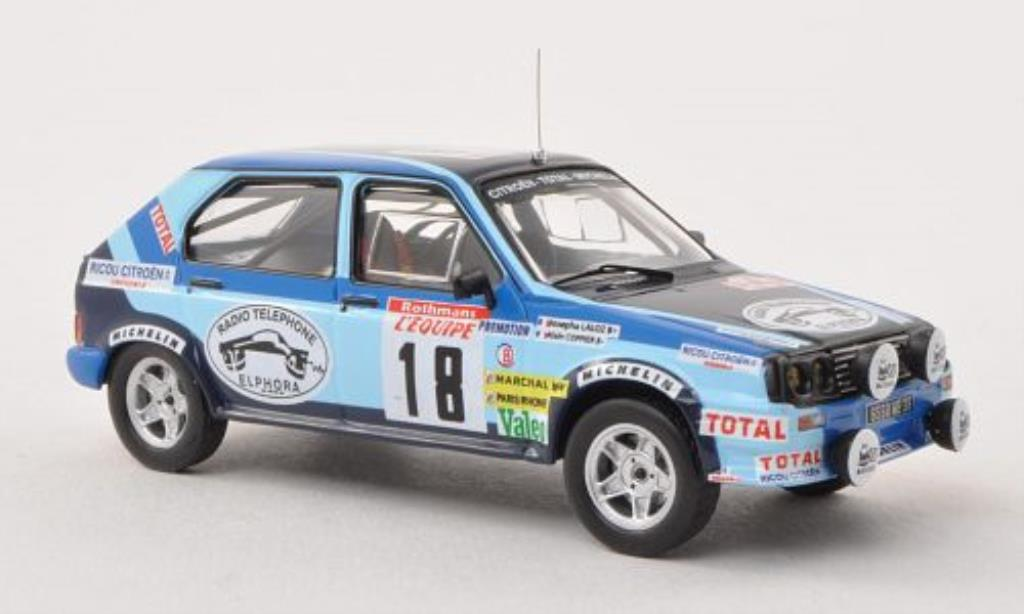 Citroen Visa 1/43 IXO Chrono No.18 Rally Korsika 1983 /J.Laloz miniature