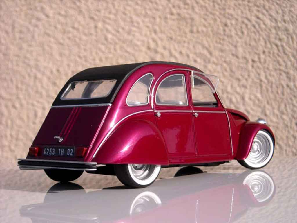 Citroen 2CV 1/18 Solido custom blush effect tuning miniature