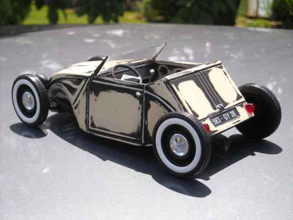 Modèle réduit Citroen 2CV hot rod tuning Solido. Citroen 2CV hot rod Hot Rod miniature 1/18