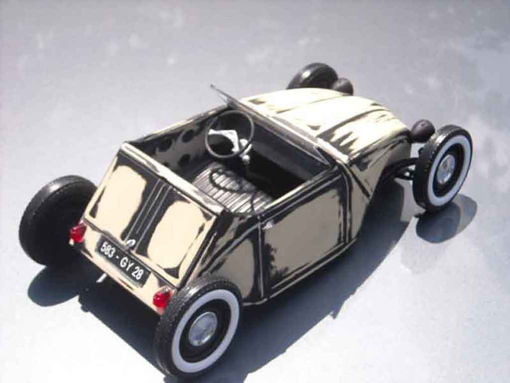 Citroen 2CV hot rod tuning Solido. Citroen 2CV hot rod Hot Rod miniature modèle réduit 1/18