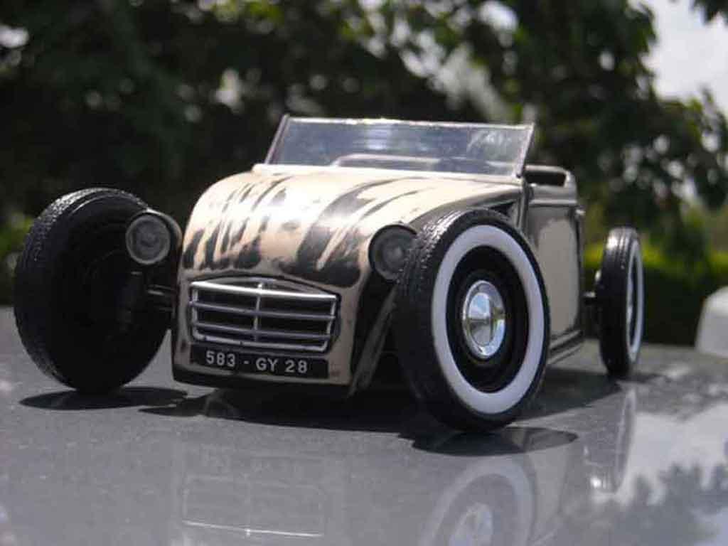 Citroen 2CV hot rod tuning Solido. Citroen 2CV hot rod Hot Rod miniature auto miniature 1/18