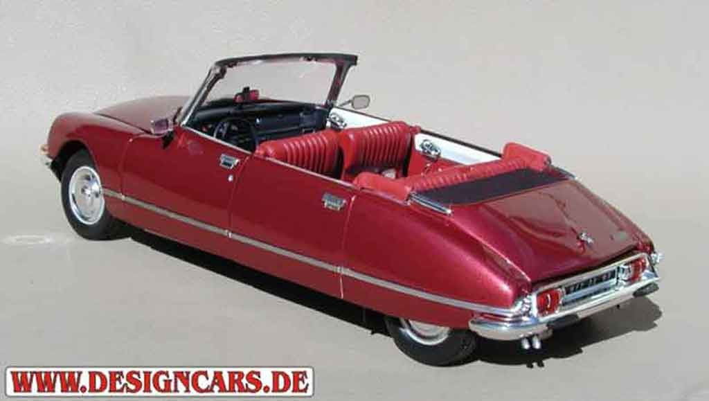 citroen ds 21 miniature cabriolet 4 portes rouge lucifer norev 1 18 voiture. Black Bedroom Furniture Sets. Home Design Ideas