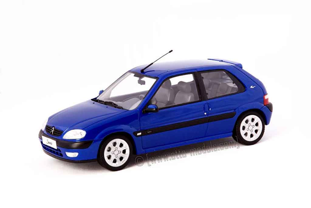 Citroen Saxo 1/18 Ottomobile vts bleu grand pavois miniature