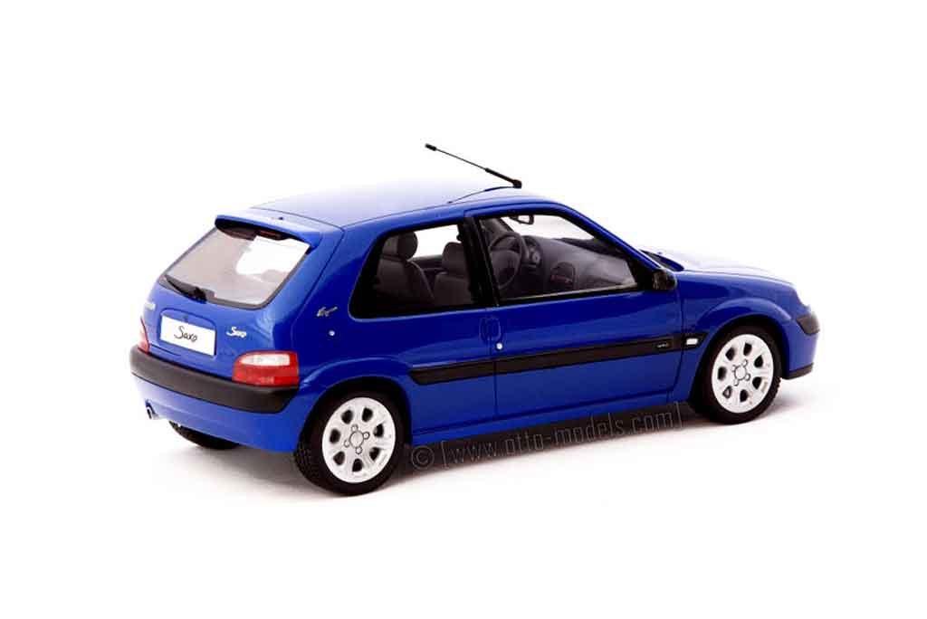 Citroen Saxo 1/18 Ottomobile vts bleu grand pavois