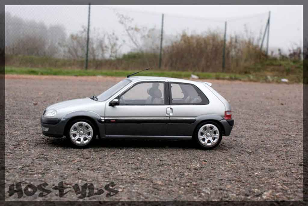 Citroen Saxo 1/18 Ottomobile vts grise metallized tuning miniature