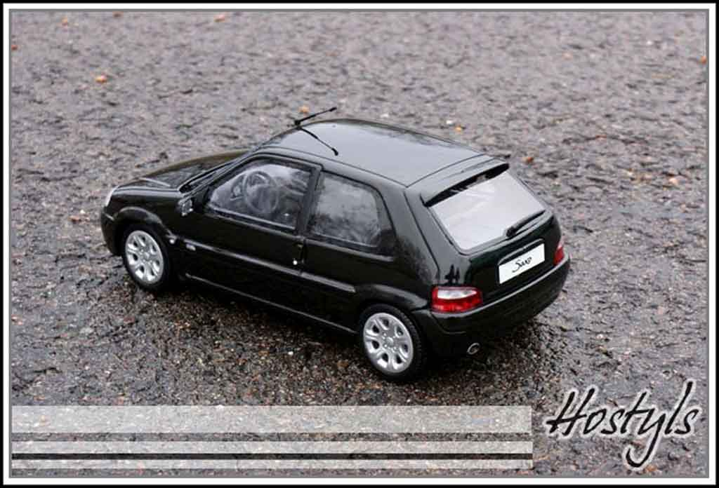Citroen Saxo 1/18 Ottomobile vts noire tuning miniature