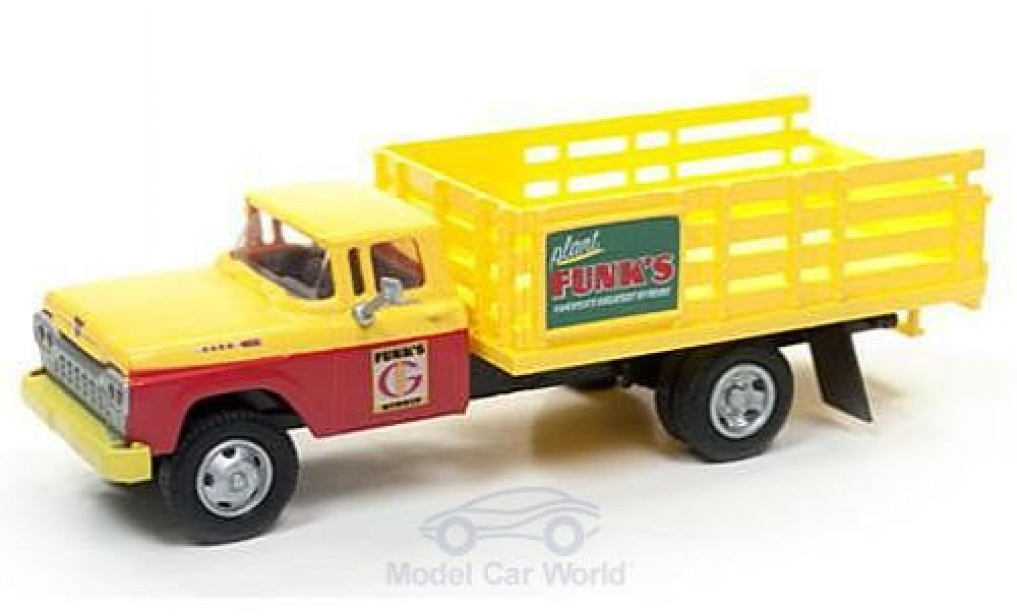 Ford Stake Bed Truck 1/87 Classic Metal Works jaune/rouge Funks Hybrids 1960