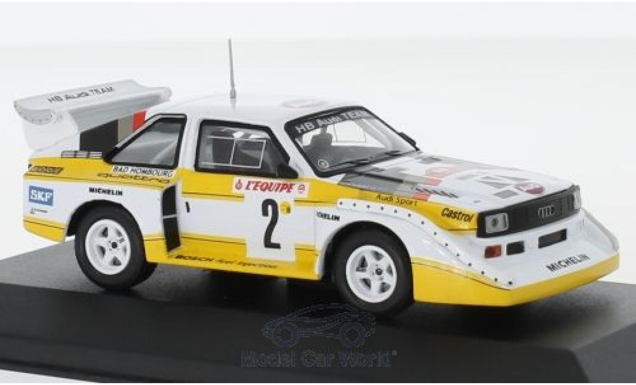 Audi Sport Quattro 1/43 CMR Sport quattro S1 No.2 HB Team HB Rallye WM Rallye Monte Carlo 1986 mit Decals W.Röhrl/C.Geistdörfer