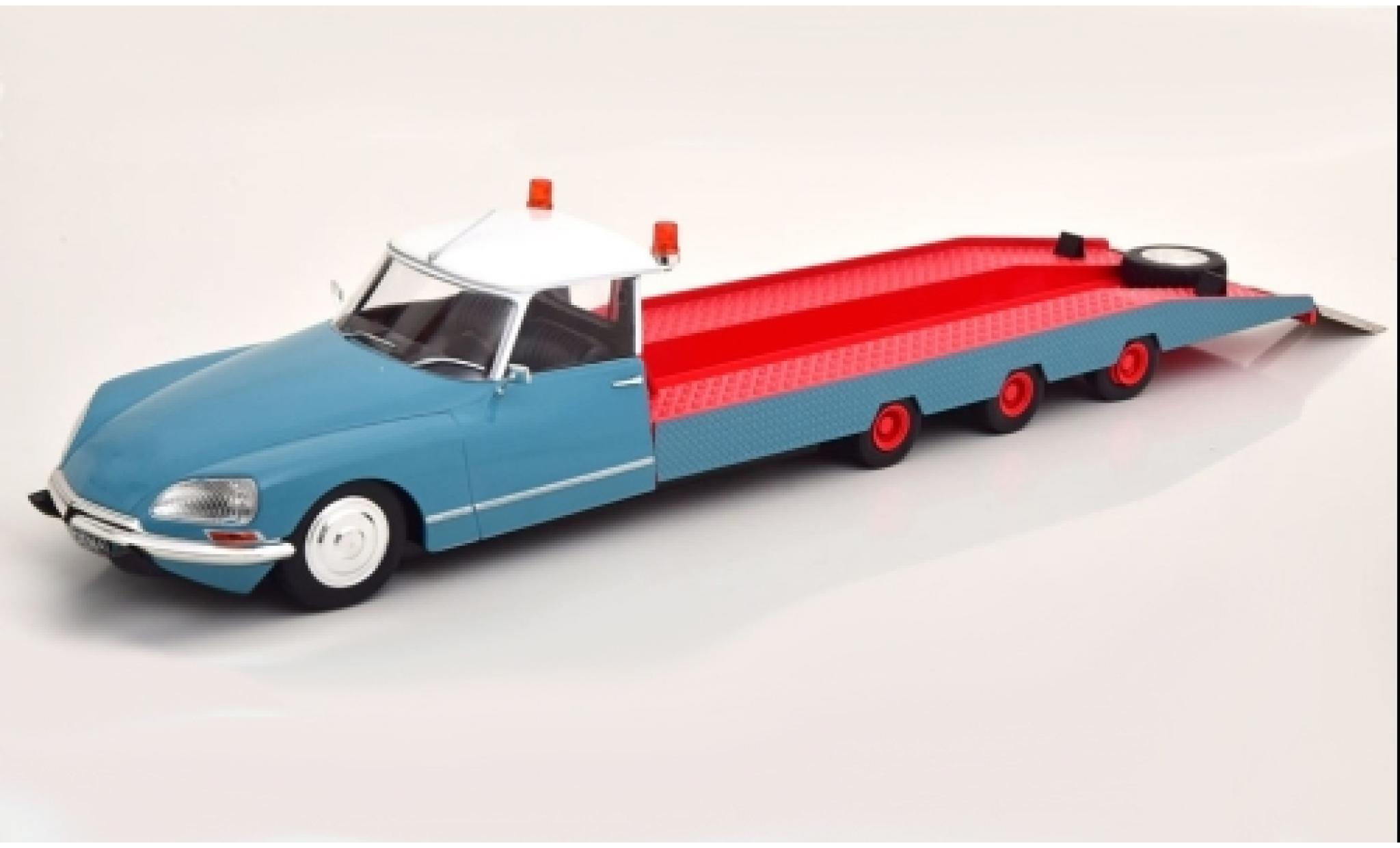 Citroen DS 1/18 CMR Tissier bleue/rouge 1970 camion de transport de voiture