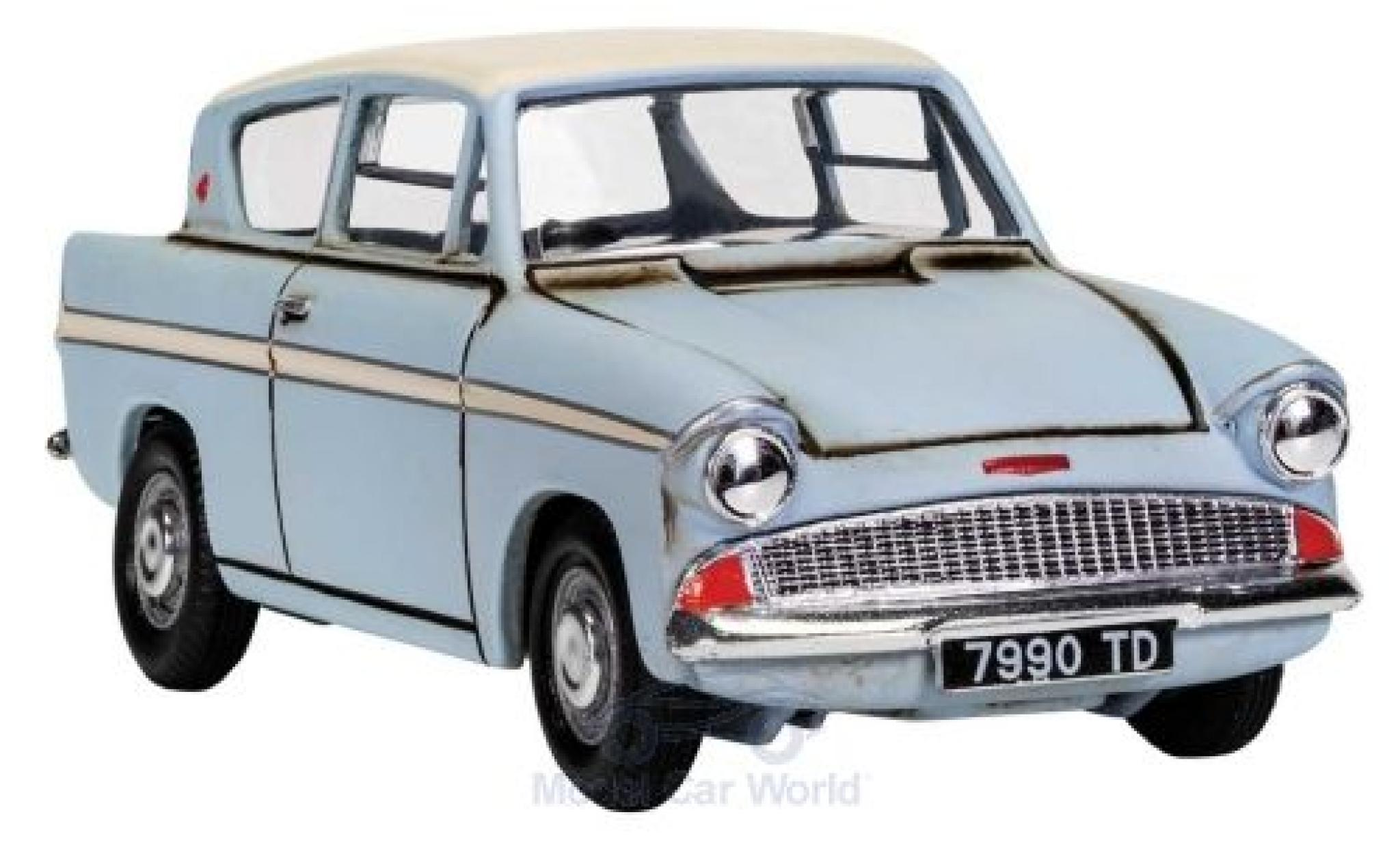 Ford Anglia 1/43 Corgi bleue/blanche Harry Potter with Harry and Ron figures