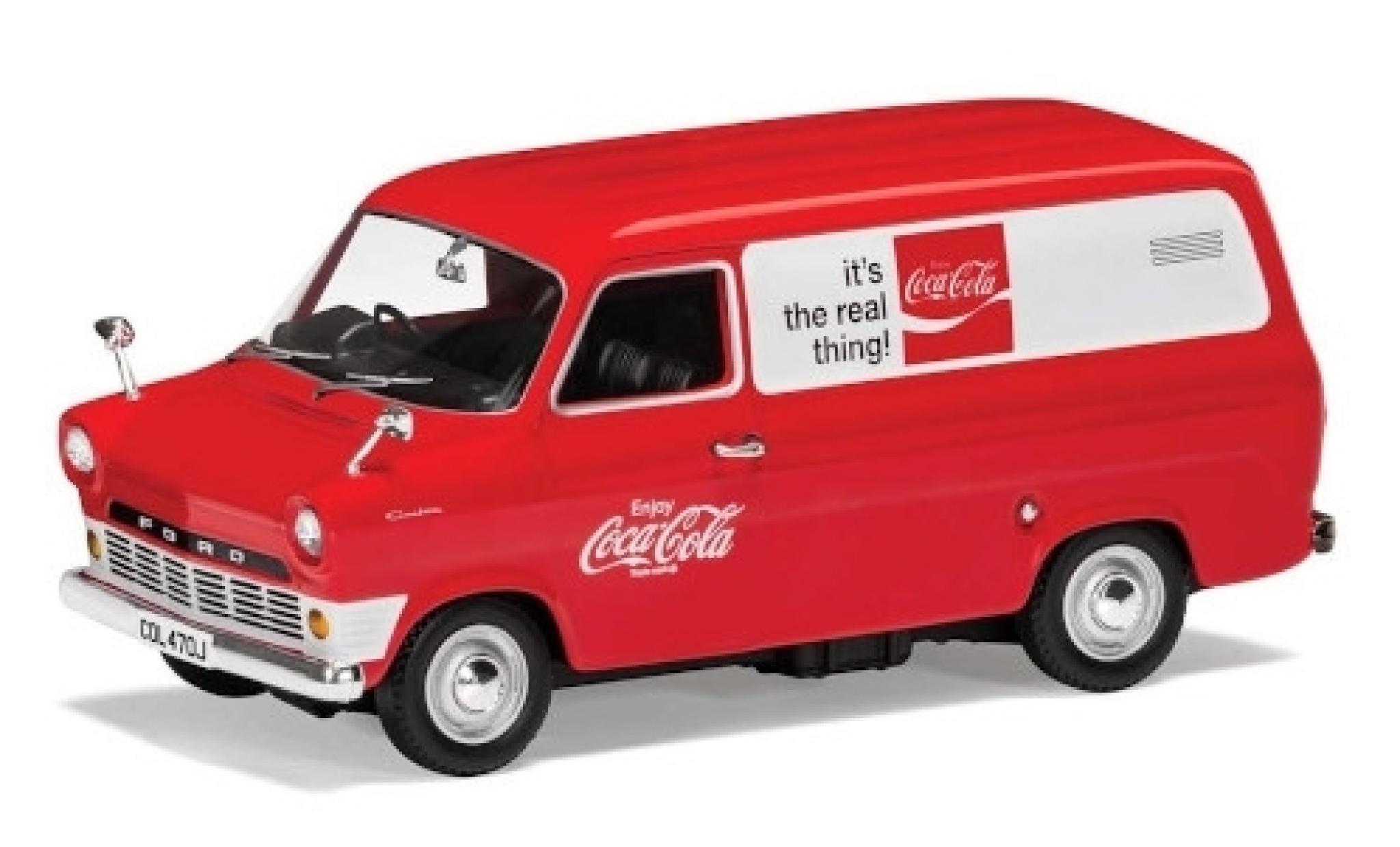 Ford Transit 1/43 Corgi MK I rouge/blanche Coca Cola 1970