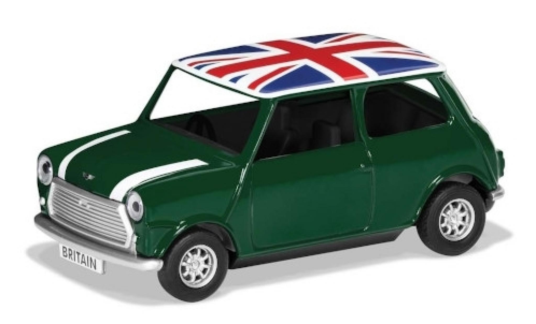 Mini Cooper 1/36 Corgi verte/blanche RHD Union Jack Best of Britannique