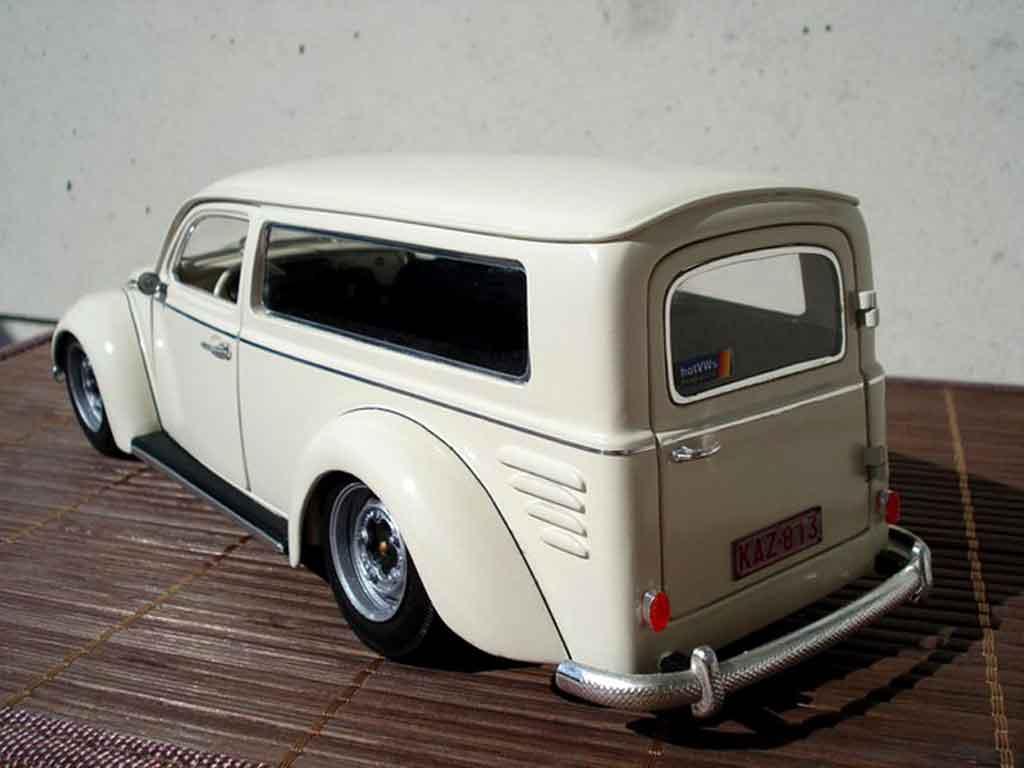 Volkswagen Kafer 1/18 Burago cox 1956 fourgonette meeussen