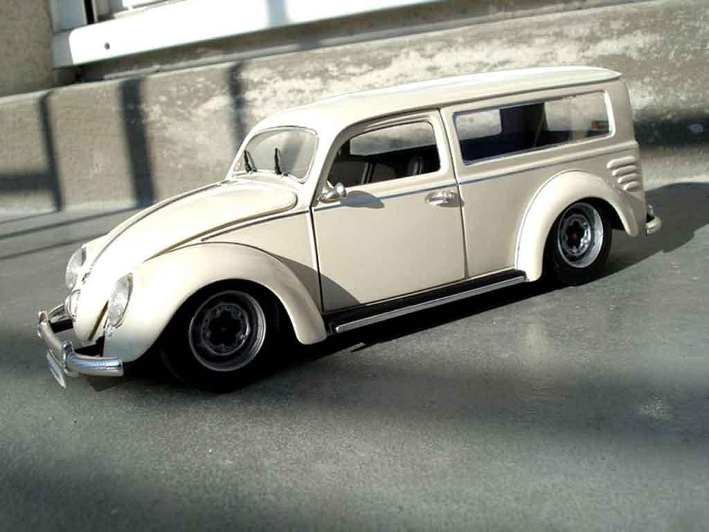 Volkswagen Kafer 1/18 Burago cox 1956 fourgonette meeussen tuning miniature