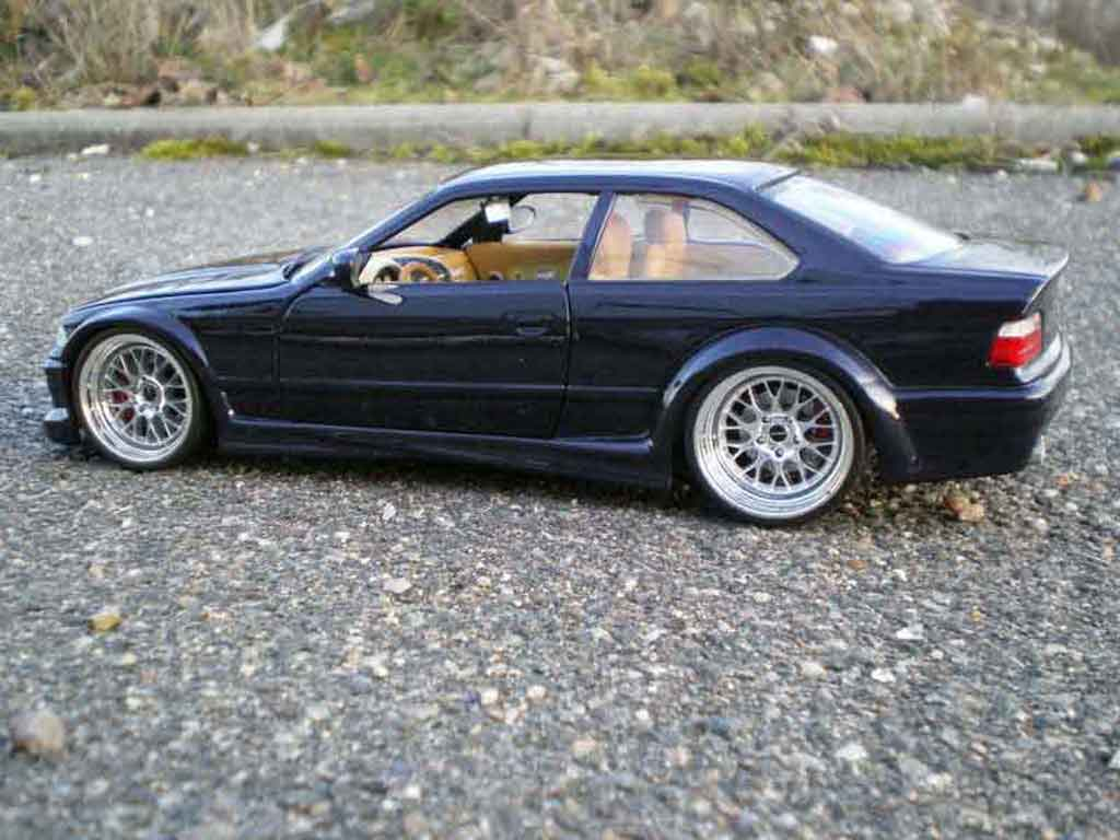 Bmw M3 E36 1/18 Ut Models GTR bleue jantes larges