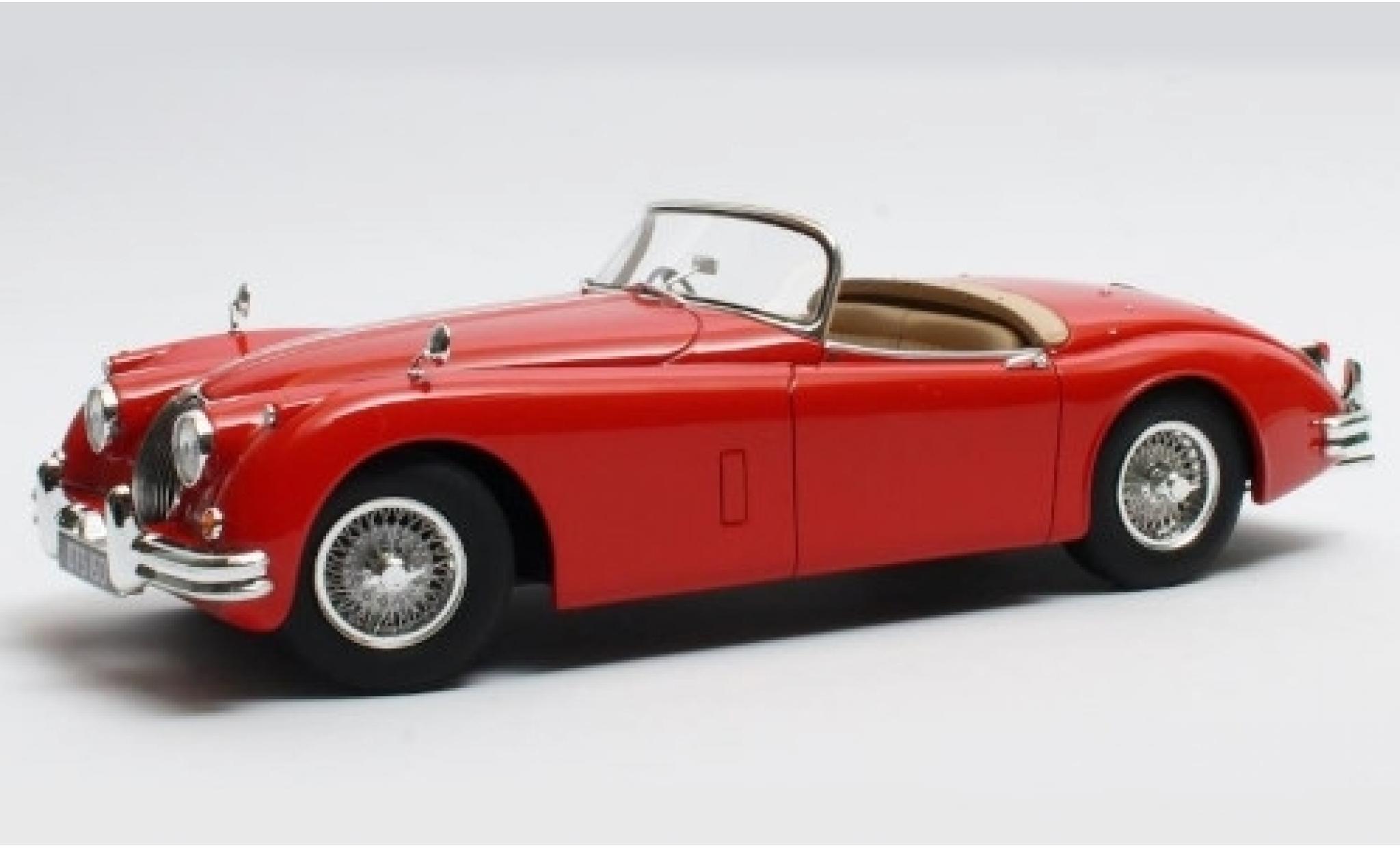 Jaguar XK 1/18 Cult Scale Models 150 OTS rouge RHD 1958