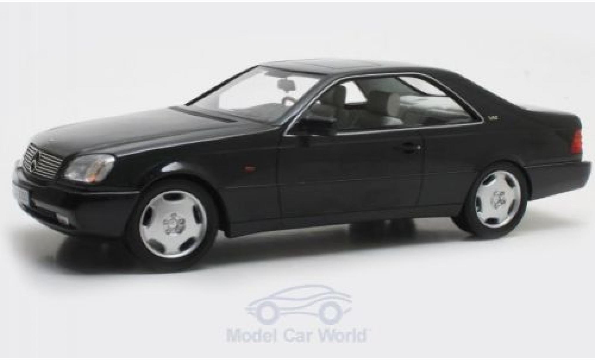 Mercedes 600 1/18 Cult Scale Models SEC (C140) metallise black 1992