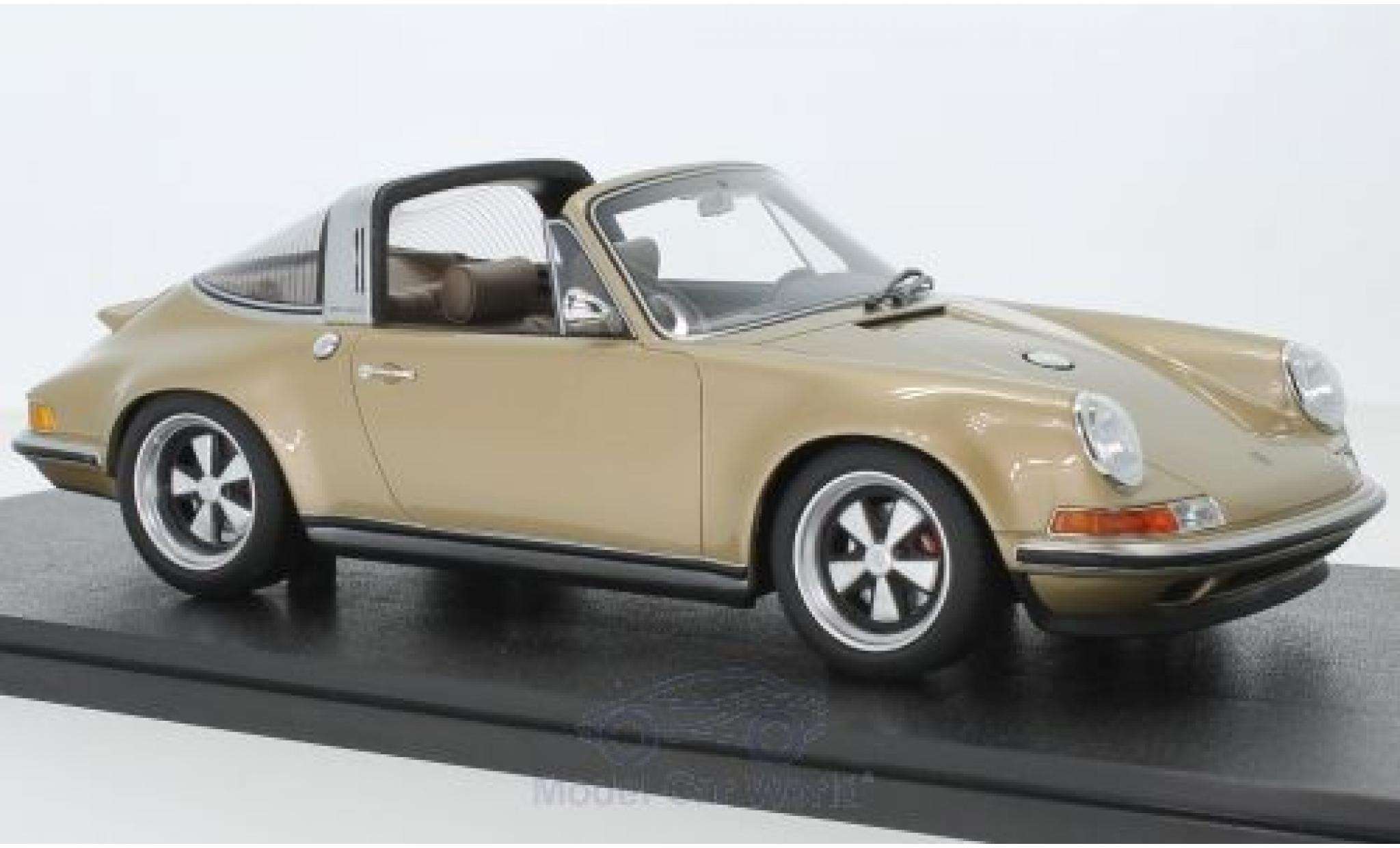 Porsche 911 1/18 Cult Scale Models Targa métallisé gold Singer