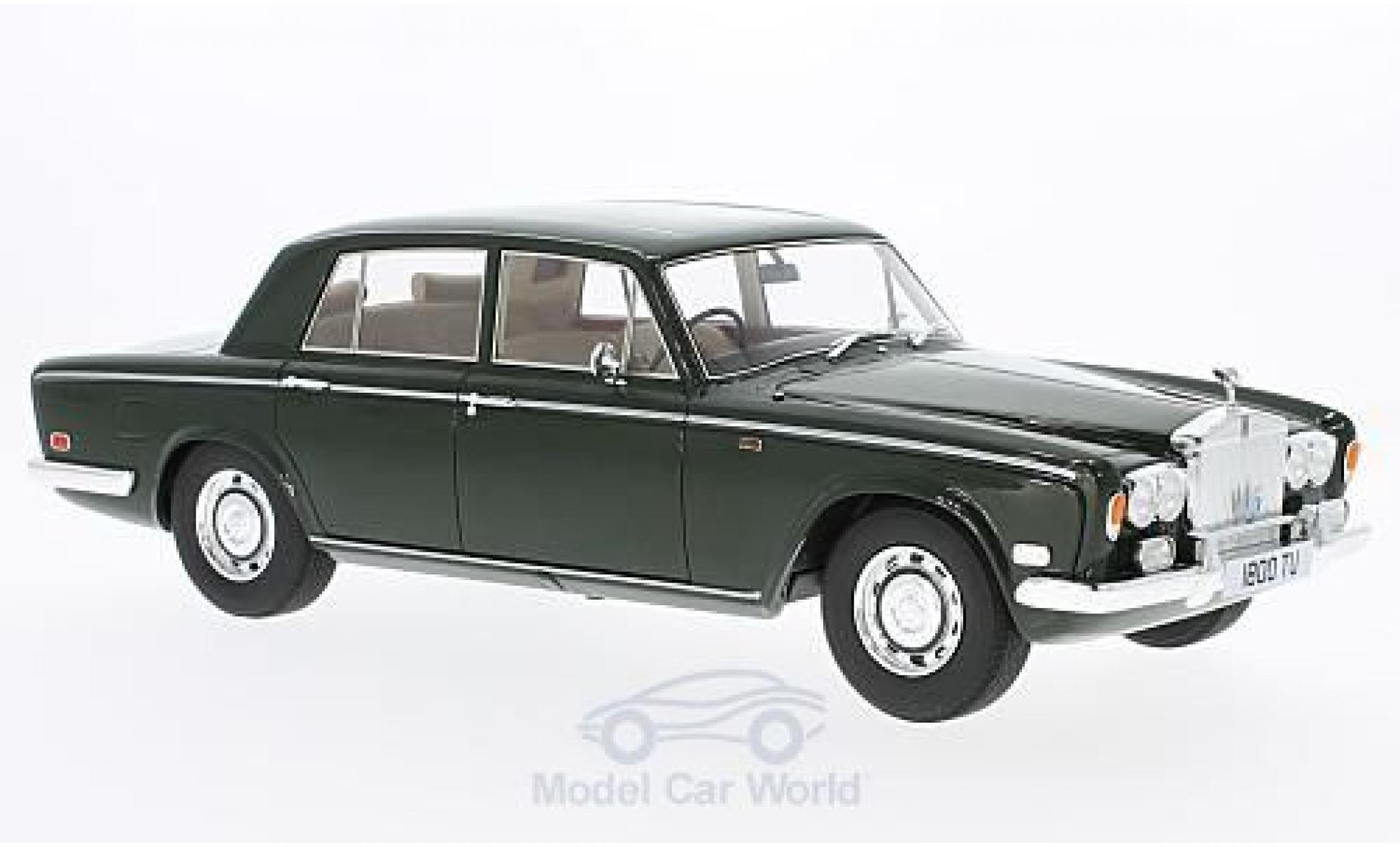 Rolls Royce Silver Shadow 1/18 Cult Scale Models verte RHD 1975 ohne Vitrine