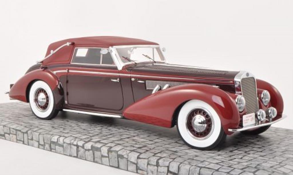 Delage D8-120 1/18 Minichamps Cabrio rouge/rouge 1939 miniature