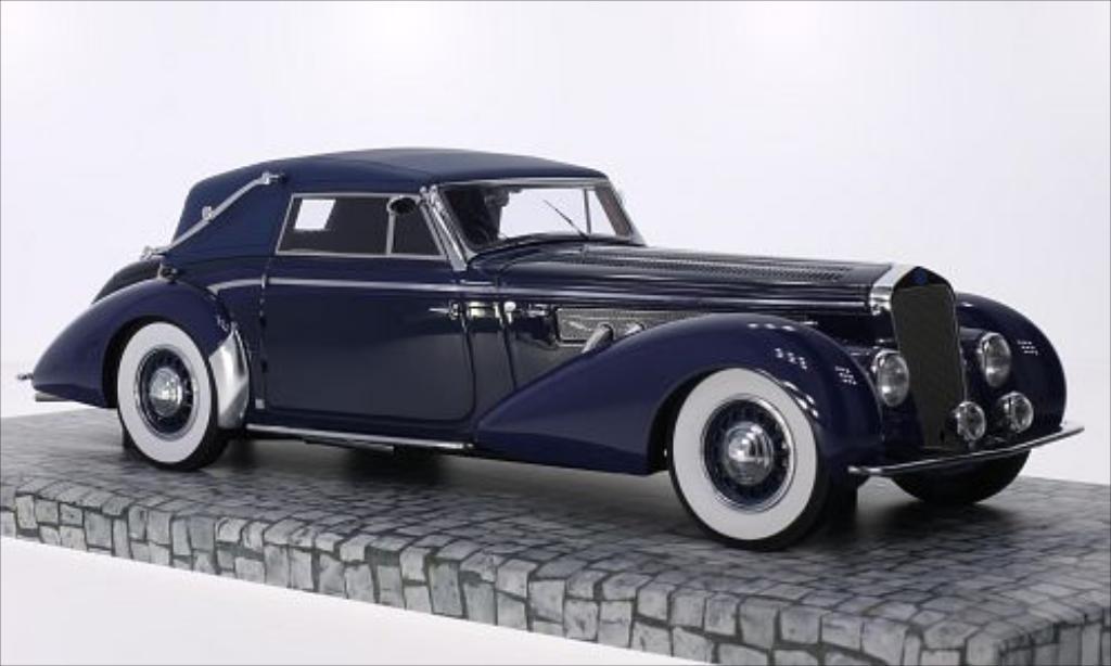 Delage D8-120 1/18 Minichamps Cabriolet bleu/bleu RHD 1939 miniature