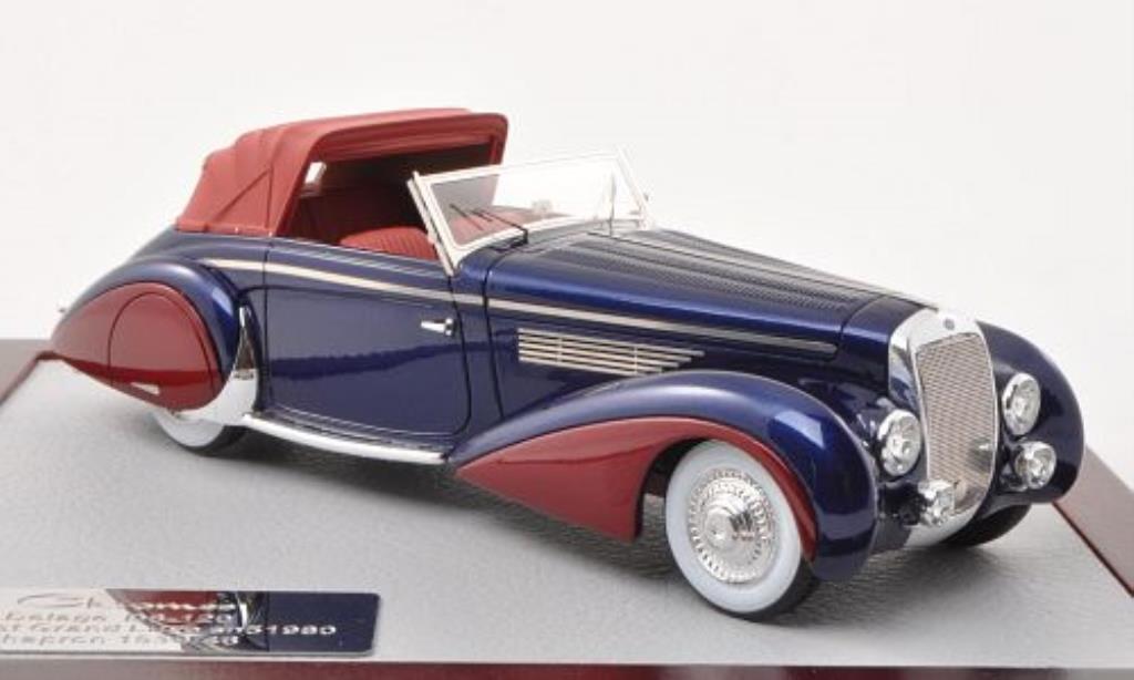 Delage D8-120 1/43 Chromes Cabriolet Grand Luxe Chapron bleu/rouge 1946 miniature