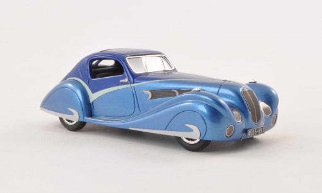 Delahaye 135 1/43 Luxcar Competition Coupe Figoni & Falaschi bleu/bleu 1936 miniature