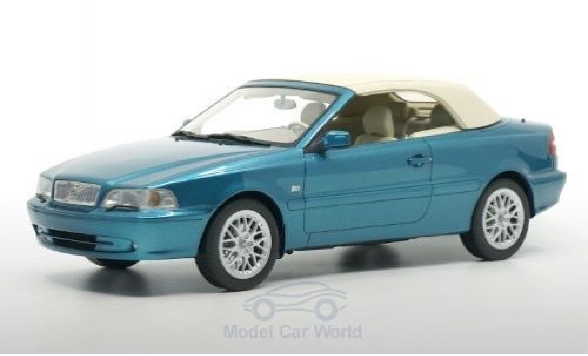 Volvo C70 1/18 DNA Collectibles Cabriolet métallisé turquoise 1999