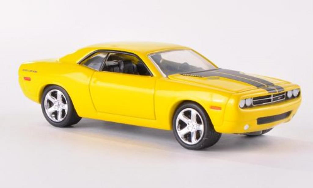 Dodge Challenger Concept 1/64 Greenlight jaune/matt-noire 2006 miniature
