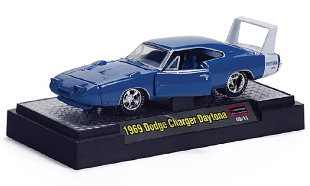 dodge charger daytona blau weiss 1969 mcw modellauto 1 64. Black Bedroom Furniture Sets. Home Design Ideas