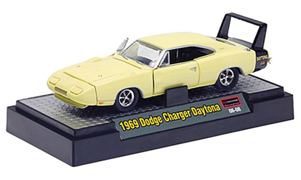 dodge charger daytona gelb schwarz 1969 mcw modellauto 1. Black Bedroom Furniture Sets. Home Design Ideas