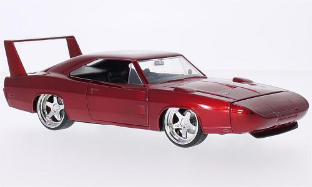 Dodge Charger Daytona 1/24 Jada Toys metallic-rouge 1969 miniature