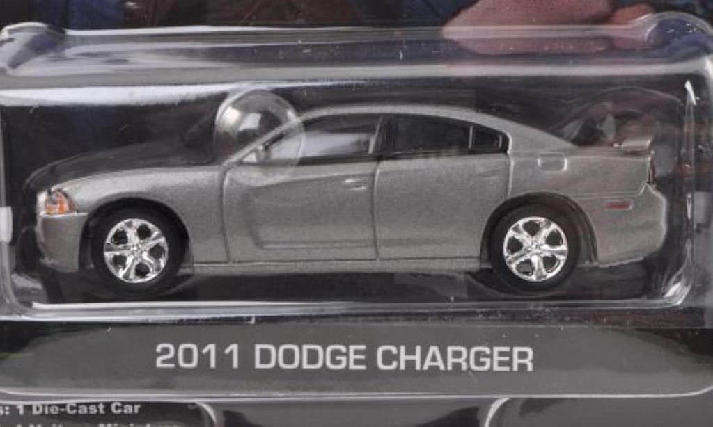 Dodge Charger 1/64 Greenlight gray CSI: Las Vegas 2011 diecast