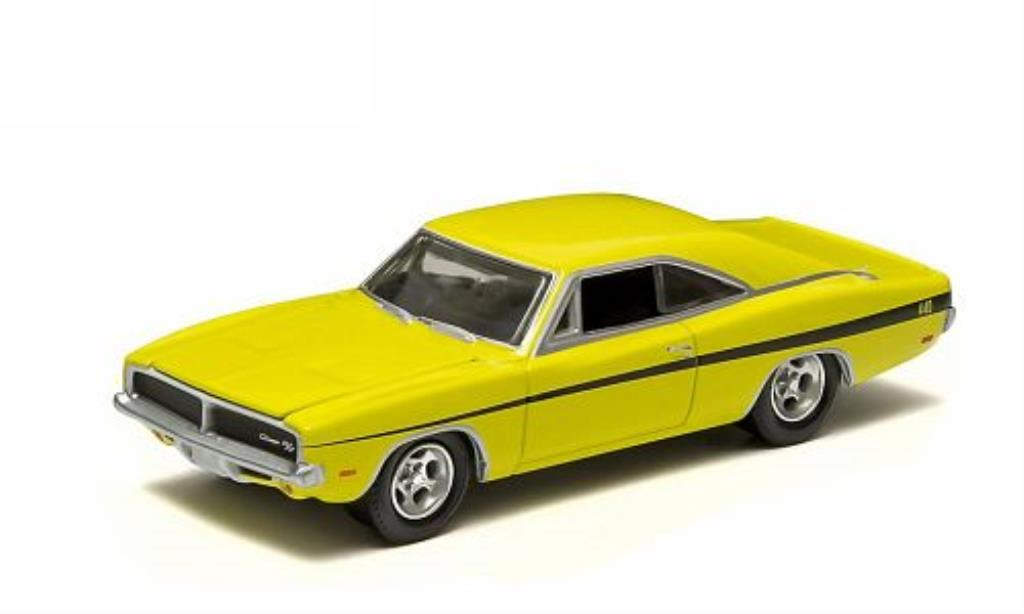 Dodge Charger 1/64 Greenlight R/T yellow 1969 diecast