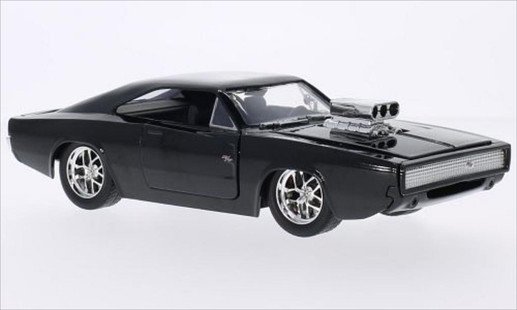 Dodge Charger 1/24 Jada Toys Toys R/T noire 1970 miniature