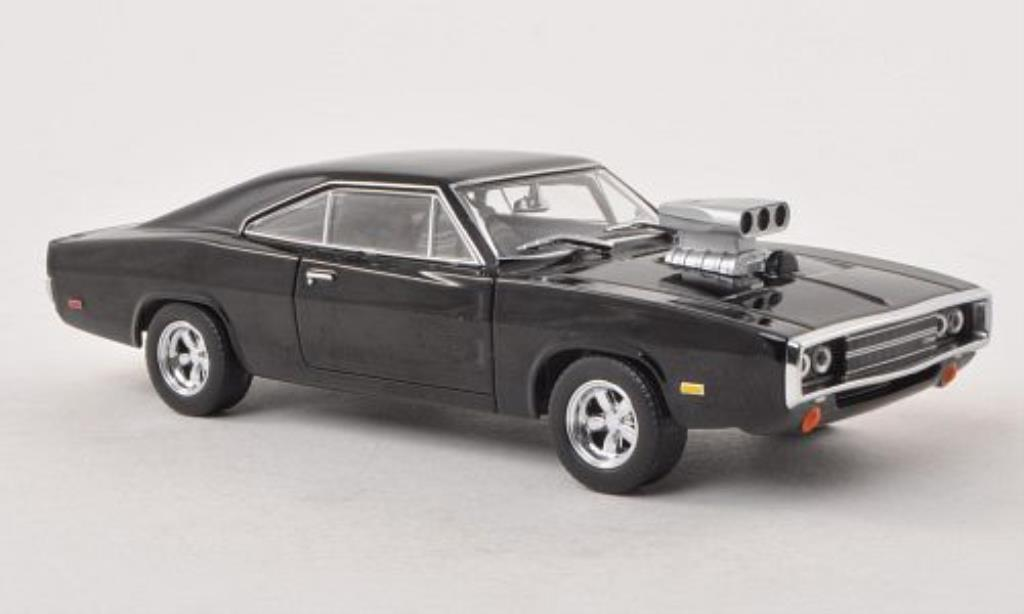 Dodge Charger 1/43 Greenlight R/T noire Fast & Furious 1970 miniature
