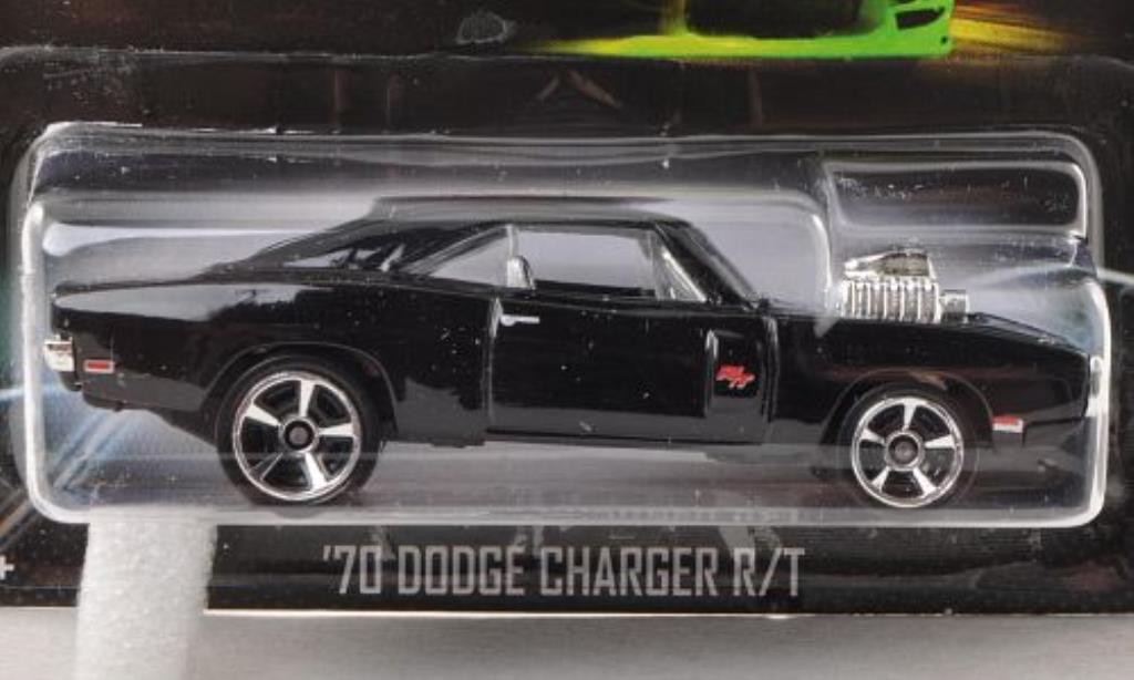 Dodge Charger 1/64 Hot Wheels R/T Tuning noire Fast & Furious 1970 miniature